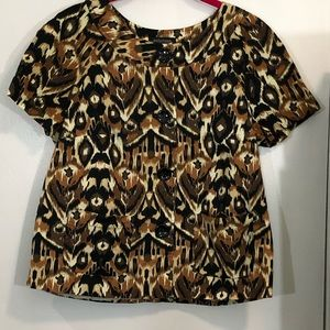 Notations Printed Blouse